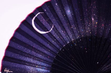 Detail constellation handfan by Gigi