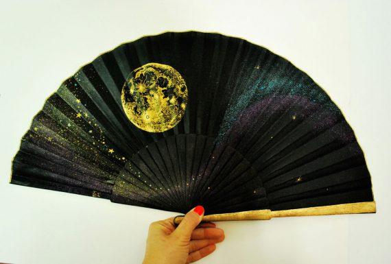 yellow moon gigi handfan. Hand fans