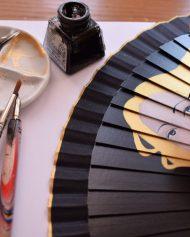 Gigihandfans eventail abanico pintado a mano