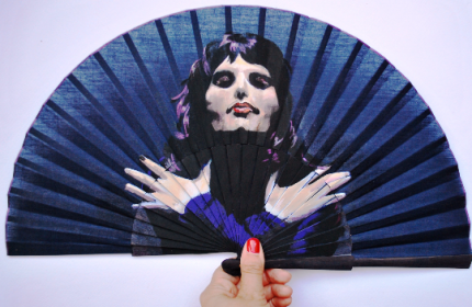 Freddie Mercury, Queen. hand painted hand fan