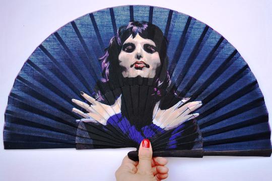 Freddie Mercury, Queen. hand painted hand fan