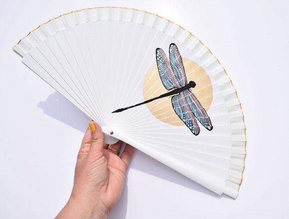 Bridal fan dragonfly