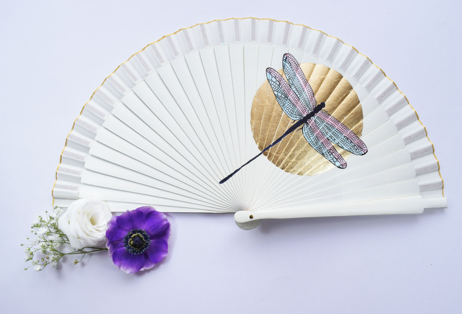 hnad-fan-wedding-dragonfly