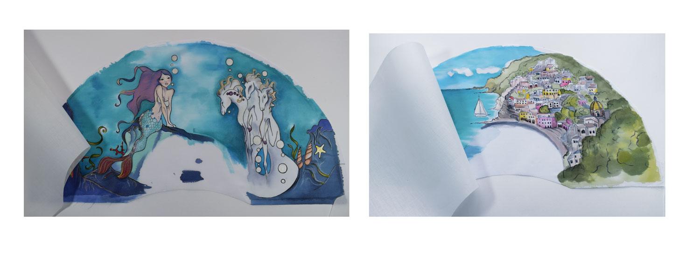 El pintar las telas por separado nos da un mayor abanico de posibilidades