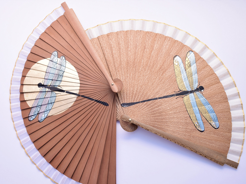 customized hand fan, abanico , eventail
