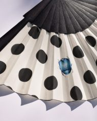 hand fan polka dots, abanico español lunares, eventail, ventaglio