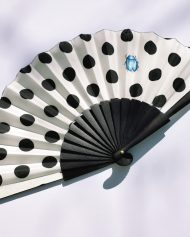 hand fans polka dots, abanico luanres, pois eventail