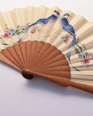 3-wooden hand fan, handmade, abanico artesanal