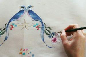 Birds handfans wedding fan, eventail, abanico de novia_edited