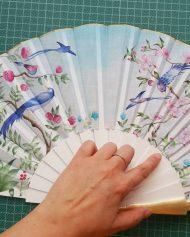1-Wedding hand fan Eventail