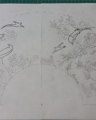 3-Ilustration wedding hand fan (2)