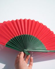abanico-rojo-y-verde-seda-gigi