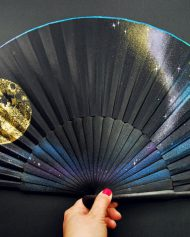 Wooden hand fan, abanico de madera, eventail