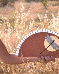 hand fans – Golden libelula-pan-de-oro (2)