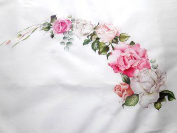 Seda pintada a mano para abnico de novia